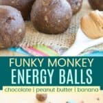 Banana Chocolate Peanut Butter Energy Balls Pinterest Collage