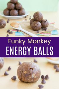 Funky Monkey Energy Balls Recipe Pinterest Collage