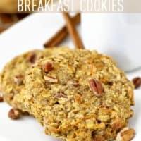 Gluten-Free Carrot Cake Breakfast Cookies