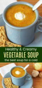 Flu Buster Vegetable Soup Pinterest Collage