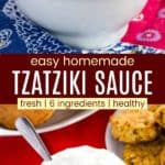 Easy Greek Tzatziki Recipe Pinterest Collage