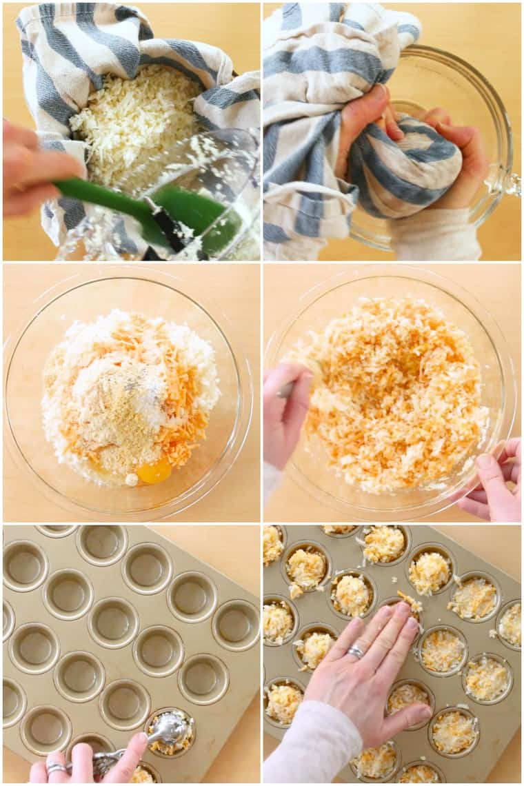Step By Step Photos of Recipe for Cauliflower Tater Tots