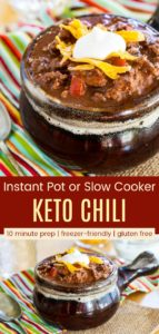 Low Carb Chili Without Beans Pinterest Collage