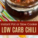 Keto Instant Pot Chili Pinterest Collage