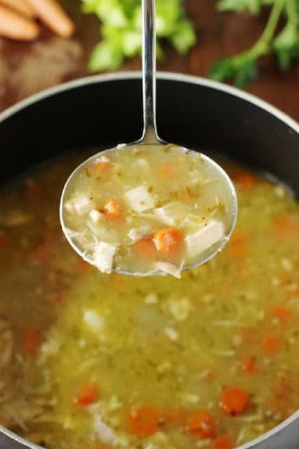 Rotisserie Chicken Soup
