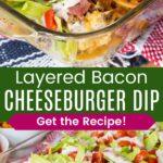 Layered Cheesy Hamburger Dip Recipe Pinterest Collage
