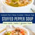 Stuffed Bell Pepper Soup Pinterest Collage