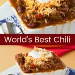 Best Chili Recipe Pinterest Collage