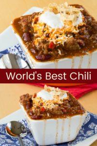 Best Chili Recipe Pinterest Collage