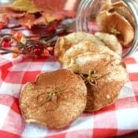 Apple Pie Spiced Apple Chips