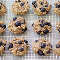 Clean Eating Banana Blueberry Cookies