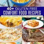 Gluten Free Comfort Foods Pinterest Collage