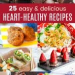 Heart Healthy Diet Recipes Collage
