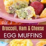 Broccoli Ham Cheese Breakfast Egg Muffins Recipe Pinterest Collage