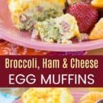 Broccoli Ham Cheese Breakfast Egg Muffins Recipe Pinterest Collage