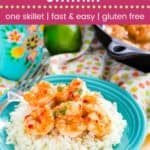 Chili Lime Shrimp Recipe Pin Template Dark