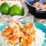 Chili Lime Shrimp Recipe Image with Title