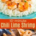 Easy Chili Lime Shrimp Recipe Pinterest Collage