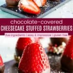 Healthy Chocolate Covered Strawberries Recipe Pinterest Collage
