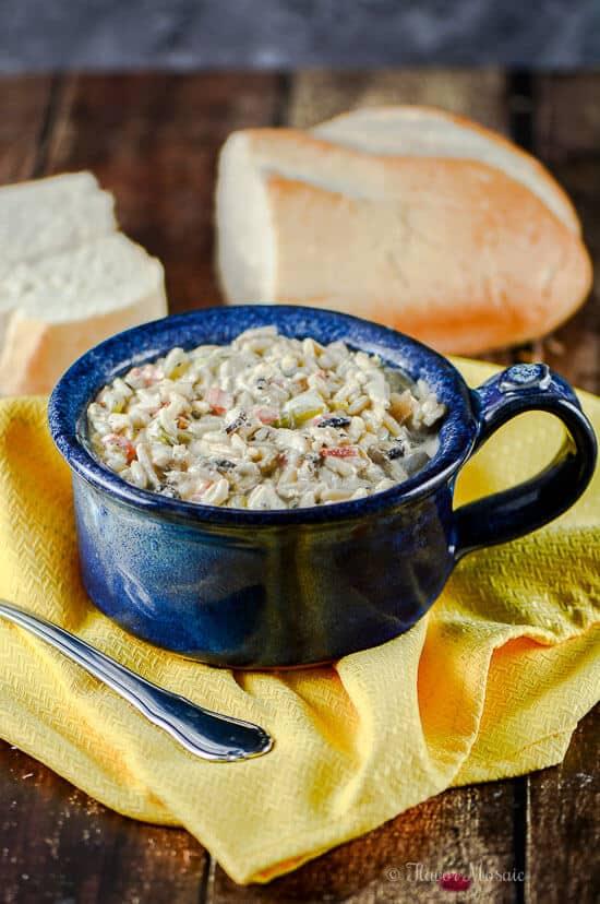 Gluten Free Creamy Chicken and Wild Rice Soup