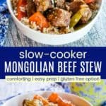 Slow Cooker Asian Beef Stew Recipe Pinterest Collage