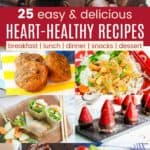 Heart Healthy Meals Pinterest Collage
