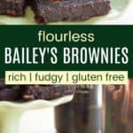Irish Cream Brownies Recipe Pinterest Collage