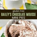 Irish Cream Chocolate Mousse Pies Pinterest Collage