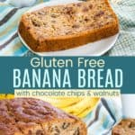 Gluten Free Banana Bread Pinterest Collage