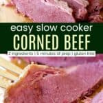 Slow Cooker Corned Beef Brisket Pinterest Collage