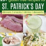 Gluten Free Recipes for St Paddys Day Pinterest Collage
