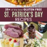 Gluten Free Recipes for St Patricks Day Pinterest Collage