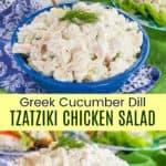 Tzatziki Chicken Salad Pinterest Collage