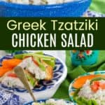 Cucumber Dill Feta Chicken Salad Pinterest Collage