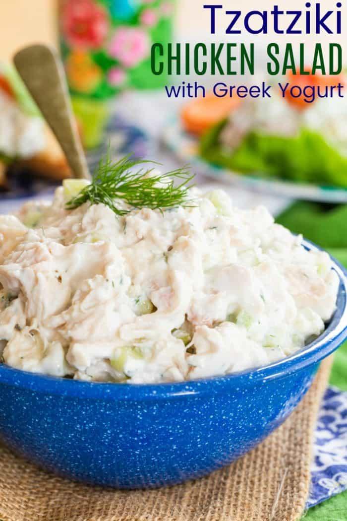 Tzatziki Chicken Salad Recipe made with Greek Yogurt