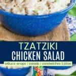 Healthy Greek Chicken Salad Recipe Pinterest Collage