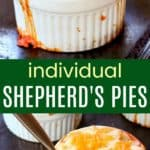 Mini Shepherd's Pie Recipe Pinterest Collage