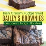Irish Cream Fudge Swirl Brownies Pinterest Collage