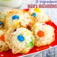 Flourless M&M's Macaroons