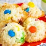 3-Ingredient M&M's Coconut Macaroons Recipe Image with Title