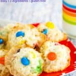 Easy 3-Ingredient M&M's Macaroons Recipe Image with Title