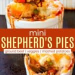 Mini Shepherds Pies Recipe Pinterest Collage