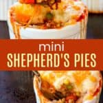 Individual Shepherds Pies Recipe Pinterest Collage