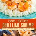 Chili Lime Shrimp Recipe Pinterest Collage