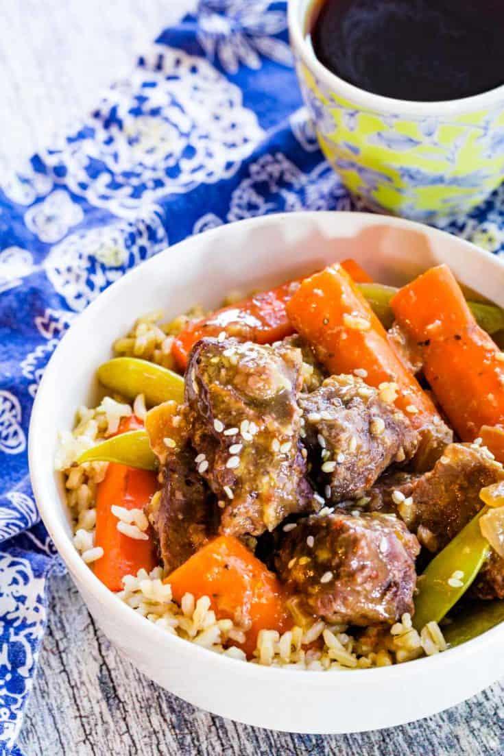 Slow Cooker Mongolian Beef Stew