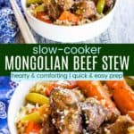 Crockpot Mongolian Beef Stew Recipe Pinterest Collage