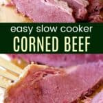 Slow Cooker Corned Beef Pinterest Collage
