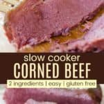 Easy Crockpot Corned Beef Pinterest Collage