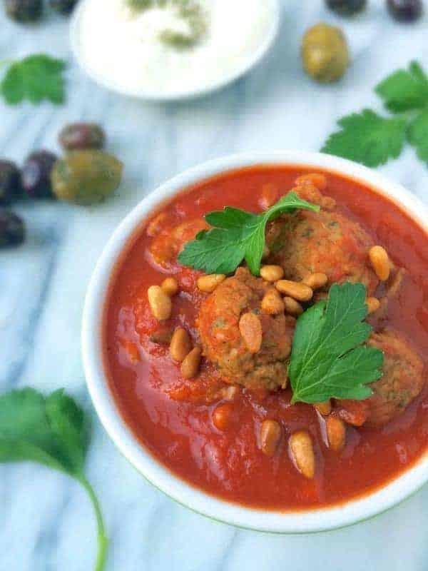 Slow Cooker Lebanese Meatballs