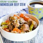 Crockpot Asian-Style Mongolian Beef Stew